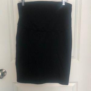 Gap maternity black pencil skirt